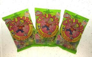 Dubble Bubble Cry Baby 5 Sour Flavors 4oz bag ~  Extra Sour Gum Lot of 3 Bags