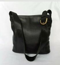 COACH Authentic Vintage Black Glove Tanned Cowhide Leather Med Shoulder Bag .EUC