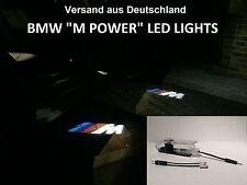 4 x BMW M POWER LOGO DEL porte LIGHTS Projecteurs d'entrée éclairage * NOUVEAU *