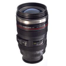 Personality DSLR Camera Lens Magic Suction Mug Food Grade Thermos Coffee Tea Cup