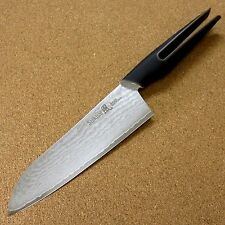"Japanese Kitchen Santoku Knife 6.3"" Damascus blade Grip style handle SEKI JAPAN"