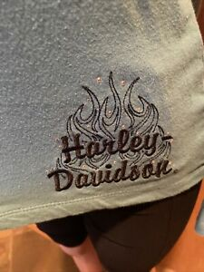 Harley-Davidson blue long sleeve women's size M top