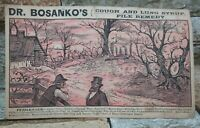 Dr. Bosanko's Cough & Lung Syrup 1880's Puzzle Card Hidden Images Quack Medical