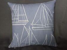 John Lewis Sailing Blueprint Cushion Cover 18x18 Handmade Both Sides boat print