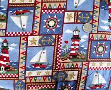 1 Yard Nautical Cotton Fabric