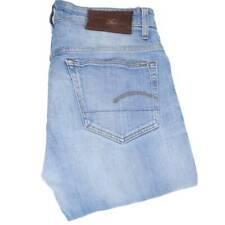 G-Star 3301 Men Blue Straight Loose Jeans W31 L32 (47473)