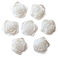 20pcs Flower Rose Flatback Pearl Embellishments Wedding Christmas Card Craft