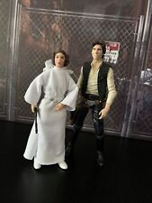 Star Wars The Black Series Han Solo & Princess Leia Organa A New Hope Figure Lot