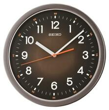"""SEIKO BLACK  WALL CLOCK 12.25"""" IN DIAMETER  WITH QUIET SWEEP SECOND QXA727KLH"""