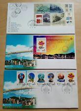 Hong Kong 1997 Return to China Stamps & SS on 3 FDC 香港回归中国邮票小型张纪念首日封(三个)Junk PB