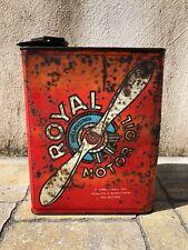 Bidon huile Royal Motor Oil 1930 Gallian oel dose oldose can garage tin schild