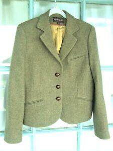 REALLY WILD Tweed Jacket fits 10 UK -label 12 - Pale Lichen green Herringbone