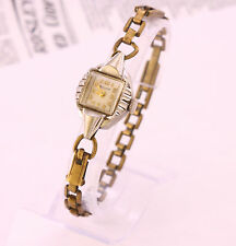 1940's Vintage Bulova L6 6BL women's Swiss made mechanical wristwatch 17 jewels