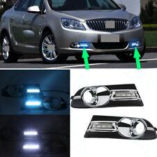 2xFor Buick Verano Excelle GT 2012-15 White+IceBlue LED Daytime Running Fog Lamp