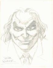 Joker Pencil Portrait - Signed art by Bob Wiacek Comic Art