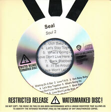 SEAL Soul 2 2011 US 11-track watermarked & numbered promo test CD SEALED