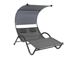 Hartman Eva Gartenliege Aluminium Sunbrella Carbon Black Mid Grey Garten Und Freizeit