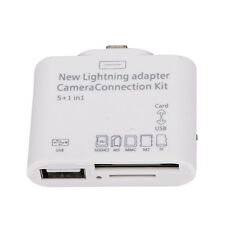 APS CA SHIPPING SD TF card USB reader Charger Adapter for Apple iPad4 iPad Mini