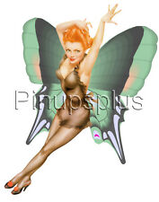Retro Pinup Fairy Girl Waterslide Decal Bathroom Decor, Guitars & more S96