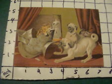 vintage Print -- A TAIL OF HORROR --latham litho DOGS & CAT & SHOES