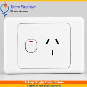 10 Amp Single Power Point GPO Socket Outlet Electrical SAA