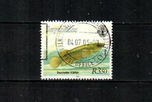 SEYCHELLES Scott's 746d Seychelles Killifish F/VF used ( 2000 )