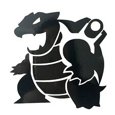 2 x Pokemon Blastoise Vinyl Decal Stickers - 60mm x 60mm