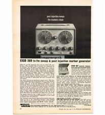 1963 EICO 369 TV FM Sweep Post Injection Marker Generator Vintage Print Ad