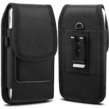 Nylon Vertical Pouch Case Holster Carrying Belt Clip Loop Large Phone Samsung