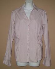 Womens Size Medium Long Sleeve Winter Fashion Striped Sparkle Blouse Top Shirt