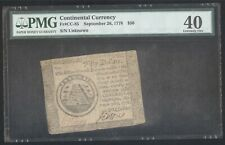 Continental Currency $50 February 26,1778 + Pmg + Fr# Cc-85 + Xf40 + No Reserve!