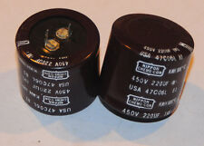 Nippon-Chemicon 220uF/450V 105 degC Electrolytic Capacitors  2ea.