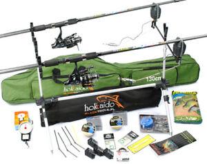 Accessories z63 Fishing Set 2x Rod 2x Reel Bag Saver NEW COMPLETE SET