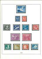 DDR Sammlung 1949-1958 **/* fast komplett mit Karl-Marx Blocks im Safe Vordruck