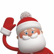 Waving Santa Christmas Window Cling