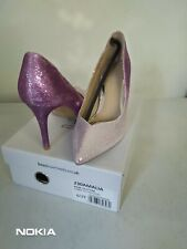 Head Over Heels by Dune Ladies Amalia pink - ombre glitter Court Shoe