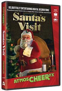 Santa's Visit DVD AtmosCheerFX Christmas Virtual Window Projection AtmosCheer