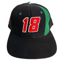 Nutmeg Racing #18 Bobby Labonte Cap Hat Blue One Size Adjustable Snapback