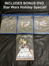 Star Wars Original Trilogy Despecialized 3 Blu-Ray SEALED & HOLIDAY SPECIAL DVD