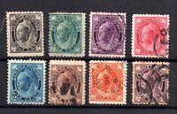 Canada QV 1897-98 Maple Leaf used set SG141-149 WS15967
