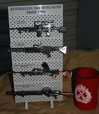 1/6 SCALE AUSSIE MACHINE GUN SET WITH RACK -  MODEL SET, DIGGER, RIFLES