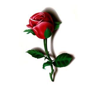 Red Rose Flower Temporary Tattoos Stickers Body Art 3D Rose Tatoo Waterproof