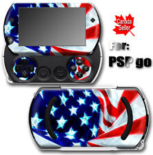 USA Flag SKIN VINYL STICKER DECAL COVER for SONY PSP Go