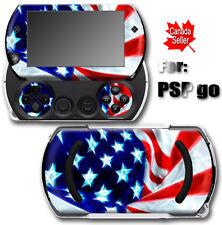 USA Flag SKIN VINYL STICKER DECAL COVER for SONY PSP Go