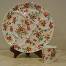 """Vintage CARROLLTON China Poppy Flower Cup and Plate                 'C"""""""