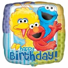 SESAME STREET SQUARE FOIL BALLOON  PARTY DECORATION ELMO BIG BIRD COOKIE MONSTER