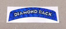 "**OLD SCHOOL BMX ""DIAMOND BACK"" AERO SADDLE REAR DECAL (BLUE)**"