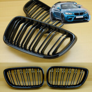 GLOSS SHINY BLACK 2014-2016 M2 LOOK FRONT GRILL FOR BMW F22 F23 F87