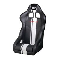 FIA OMP TRS-E Plus BLACK RACE RALLY BUCKET SEAT Steel Frame Velour DELIVERY