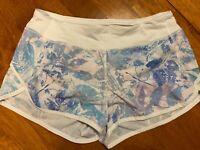 "NWOT Girls Ivivva by Lululemon Floral 2.5"" Shorts Size 14"